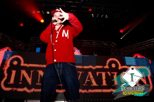 Harry Shotta and DJ Ollie in the mix at Innovation Distortion