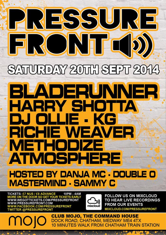 Pressure Front @ Mojo 20th September 2014