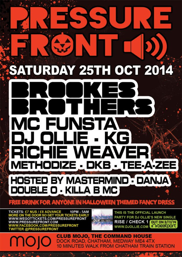 Pressure Front @ Mojo 25th October 2014