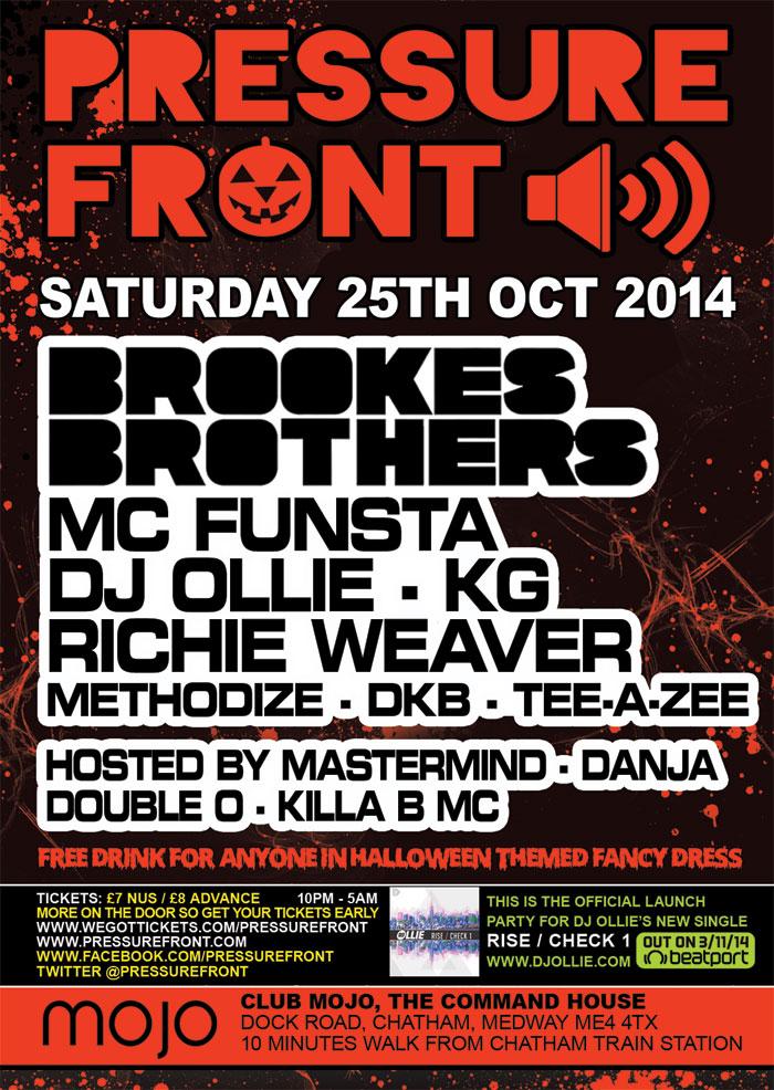 Pressure Front @ Mojo 25th October 2014