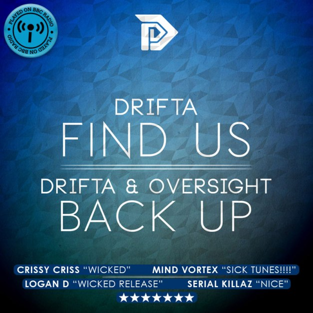 Drifa - Find Us / Back Up - DIR025