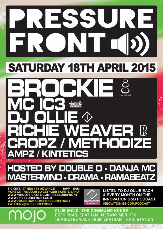 PRESSURE FRONT >> BROCKIE [UNDILUTED] | MC IC3 | DJ OLLIE | RICHIE WEAVER & MORE