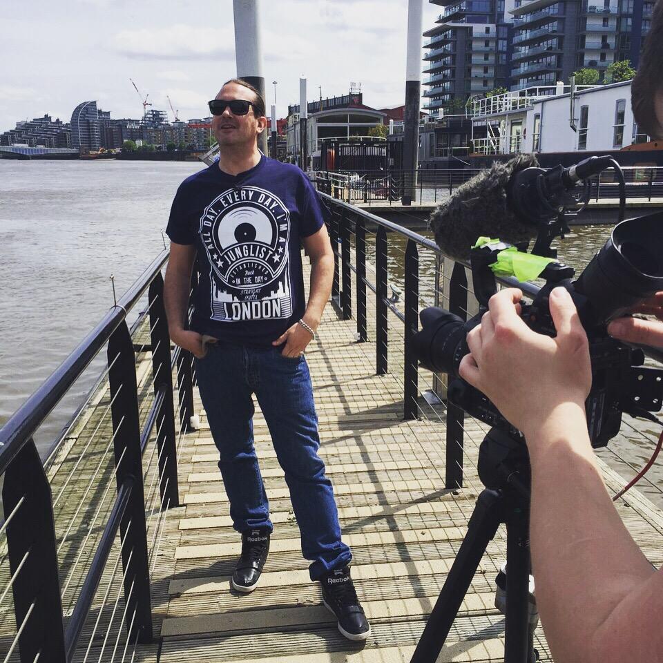 DJ Ollie filming