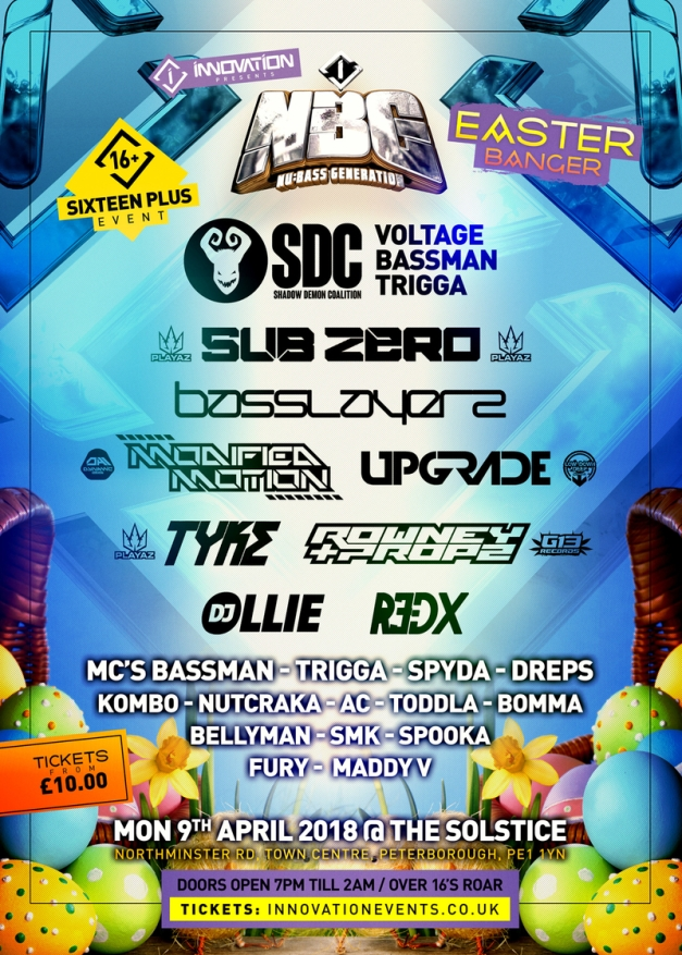NBG Easter Banger line up